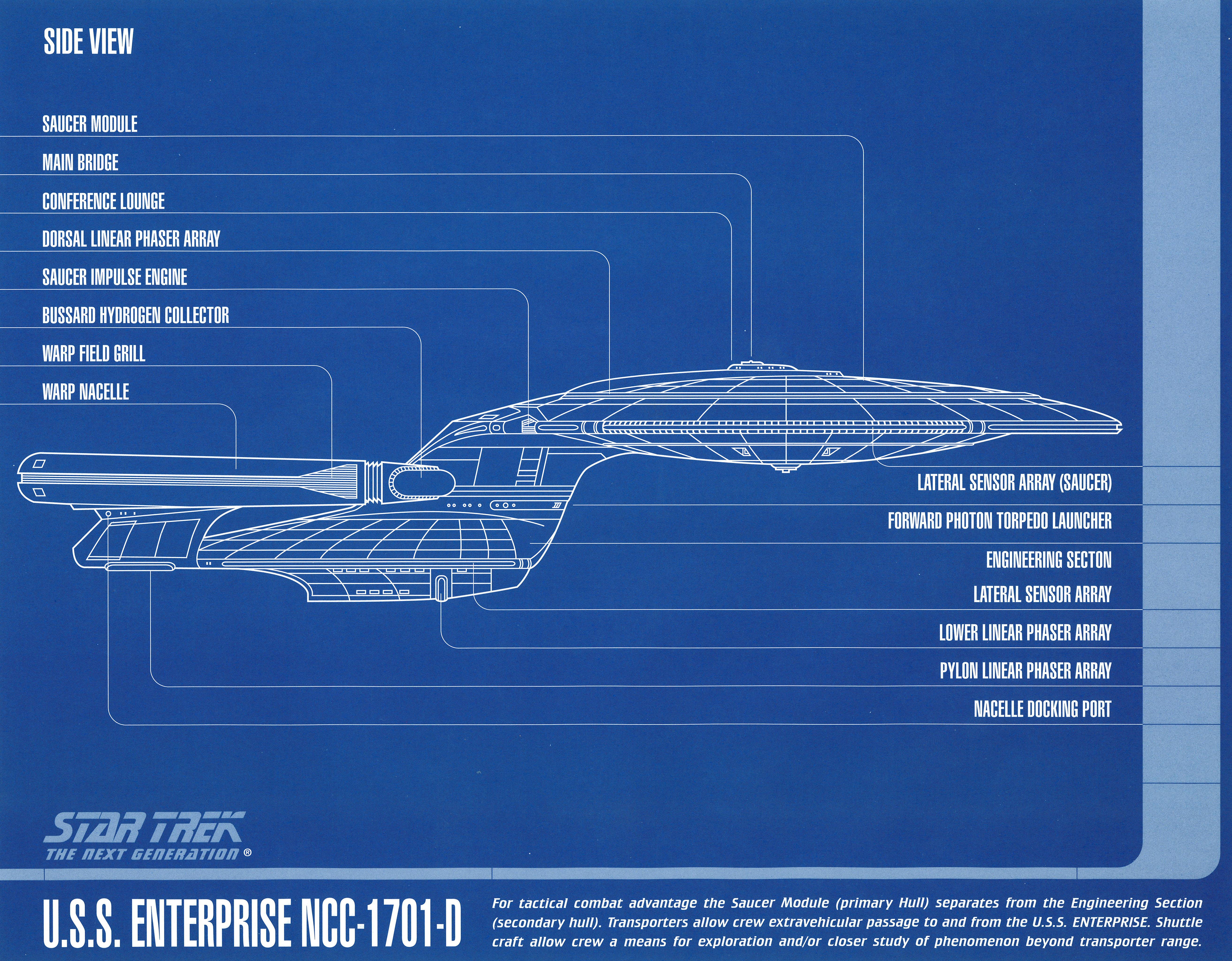 Star Trek Blueprint - Side View